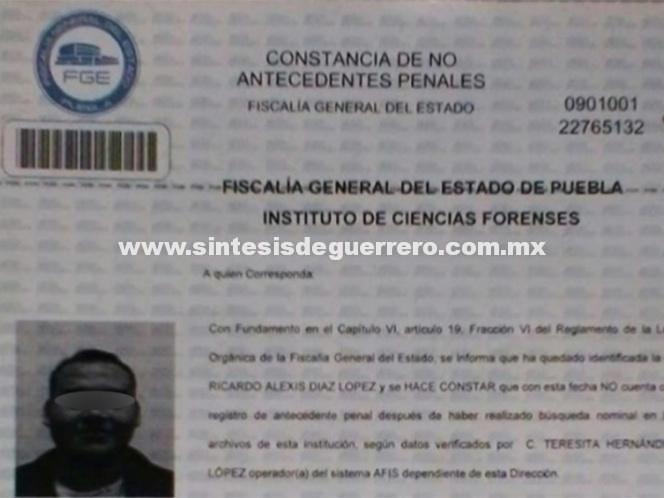 Cabify revela carta de no antecedentes de presunto asesino de Mara