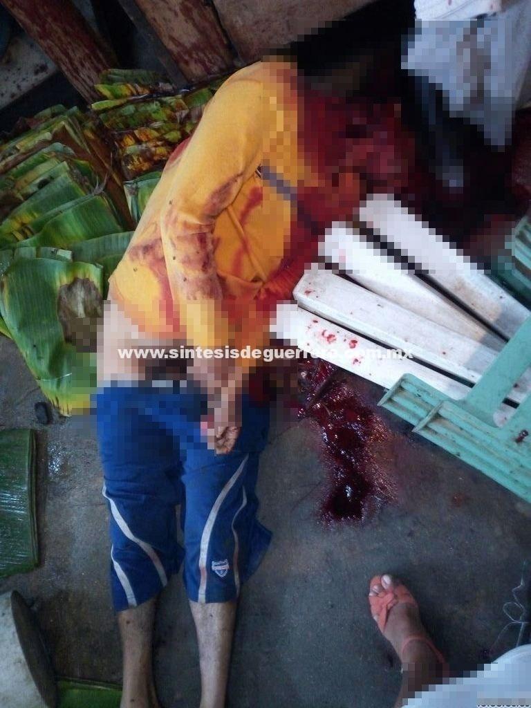 Degüellan a un hombre en mercado de Acapulco