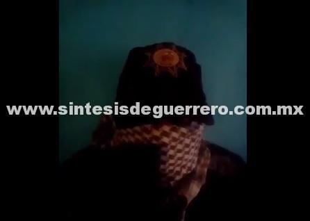 (Vídeo) grupos del crimen amenazan a jefe policíaco en Guerrero