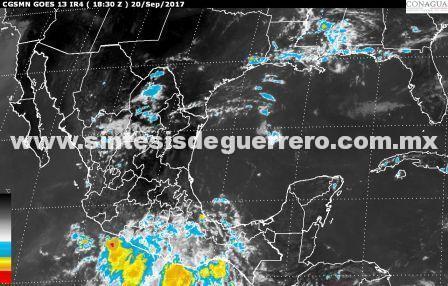 Aumenta a 30% potencial ciclónico a 190 kilómetros al Sur de Puerto Ángel, Oaxaca