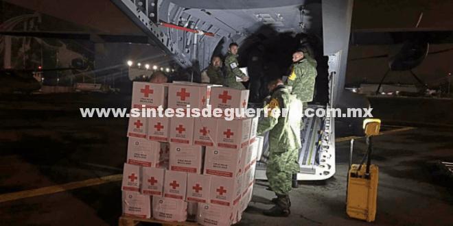 Lleva Sedena víveres y ayuda a damnificados por sismo en Oaxaca