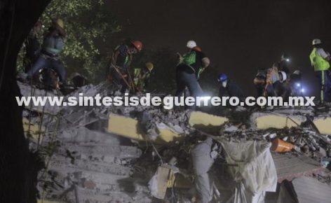 Aumenta a 225 la cifra de muertos tras sismo; 94 en CDMX