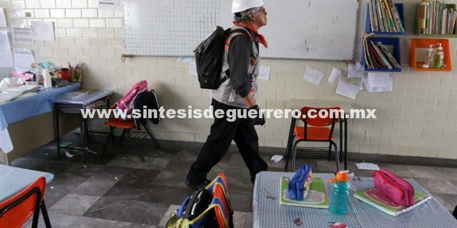 El lunes iniciará la reparación de escuelas dañadas por sismos