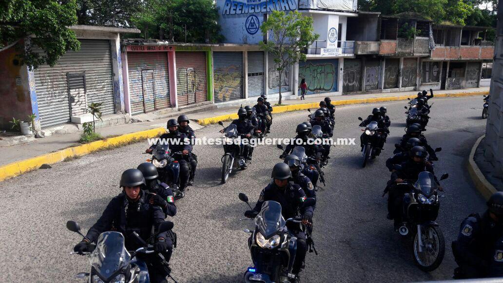 """Continúa en Acapulco operativo de alto impacto con participación del GTRI """"Centauro"""" UFE, PEA y Ejército Mexicano"""