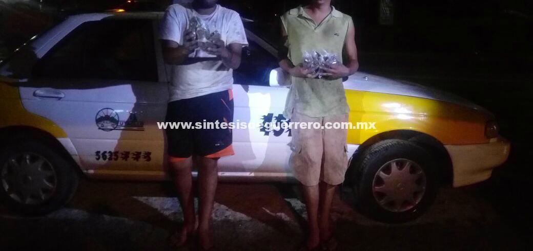Aseguran a tres hombres por posesión de droga en el Kilómetro 22