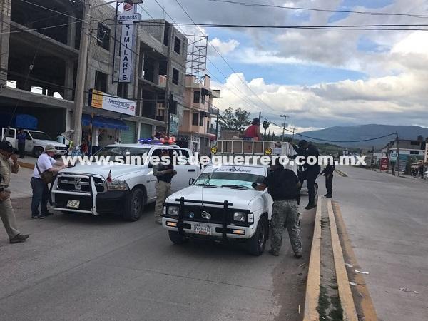 Policía Ministerial provoca pánico y suspensión de clases en Chilapa, al recorrer la ciudad