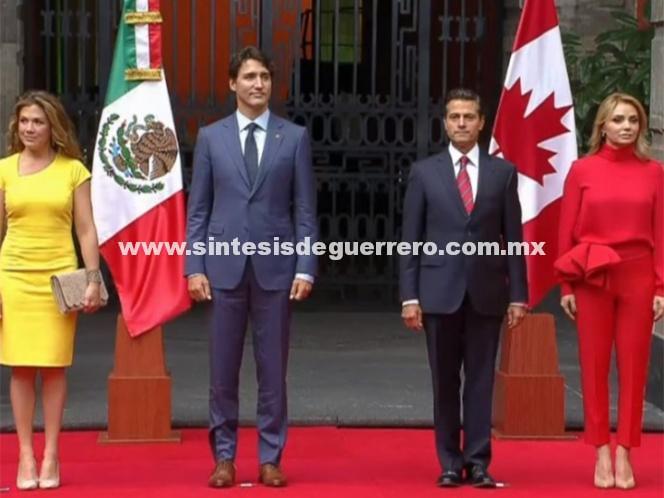 (Video) Peña Nieto recibe a Justin Trudeau en Palacio Nacional