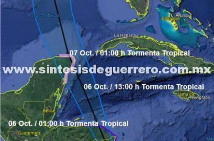 Por tormenta Nate, suspenden clases en Quintana Roo