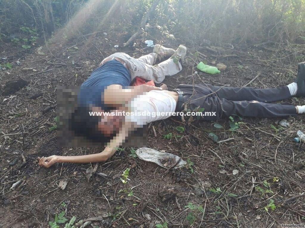 Dos masculinos fueron asesinados a balazos en Coyuca de Benítez