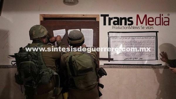 Israel clausura medios de comunicación en la Palestina ocupada