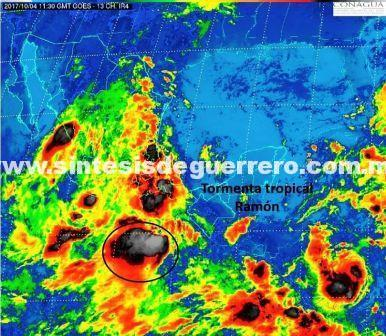 "Protección civil advierte LLuvias intensas en Guerrero por tormenta tropical ""Ramon"""