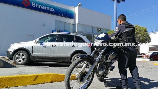 Fallido intento de asalto, en un banco de Chilpancingo