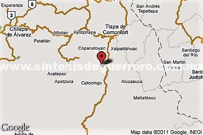 4 policías heridos al volcar cuando buscaban a cinco asesinados en Copanatoyac, Guerrero