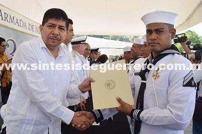 Reconoce Meza labor de la Armada de México
