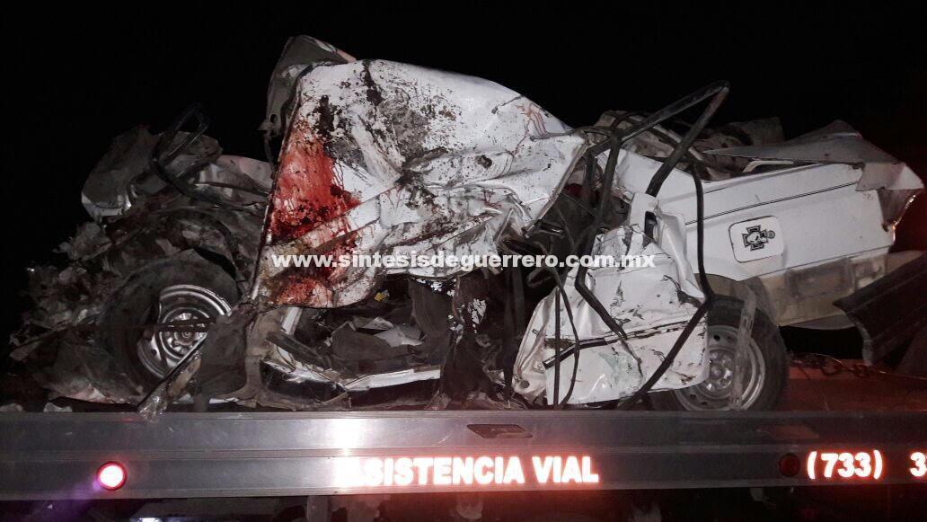 Cuatro muertos tras un choque en la carretera federal Chilpancingo-Iguala
