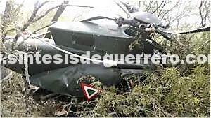 Se desploma helicóptero en la sierra de Guerrero; 3 muertos