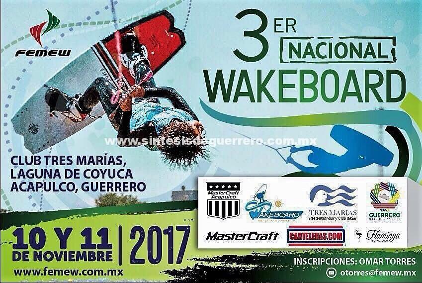 El nacional de WAKEBOARD México, en la laguna de Coyuca de Benítez el 10 y 11 de noviembre