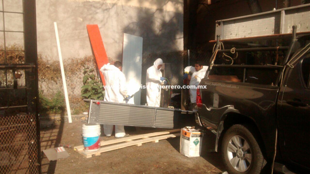Continúan intensas labores de limpieza y mantenimiento en el SEMEFO de Chipancingo