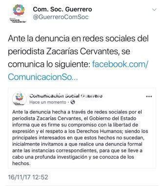 Reitera Gobierno de Guerrero respeto a la libertad de prensa