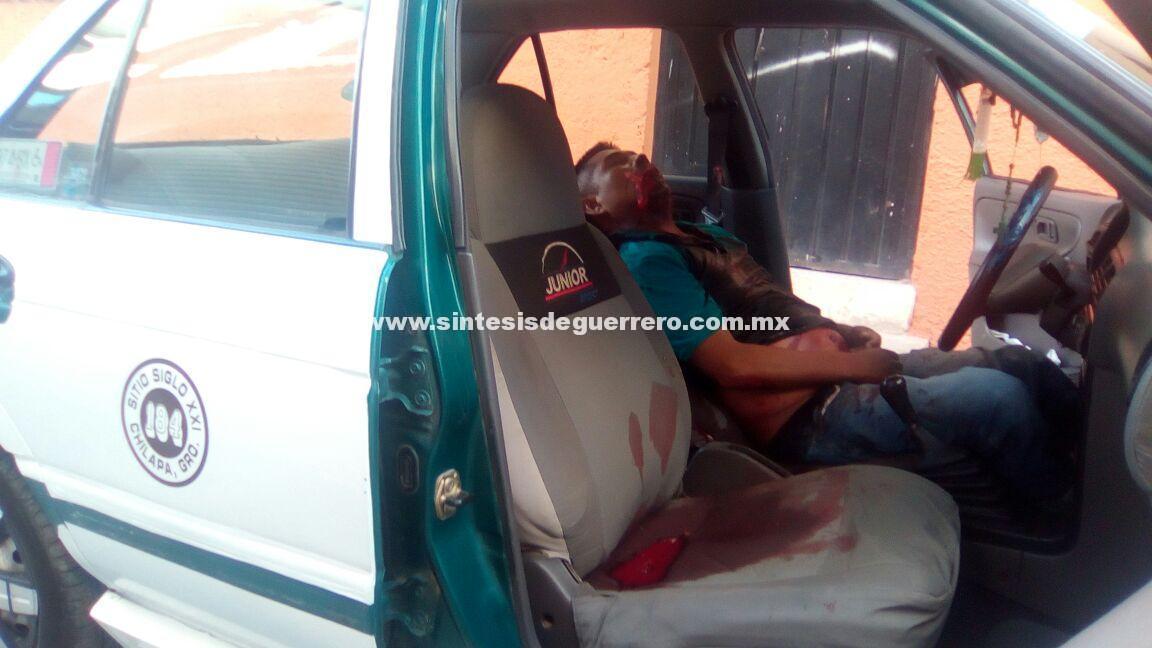 Ejecutan a otro taxista en Chilapa de Álvarez, en el barrio del Dulce Nombre