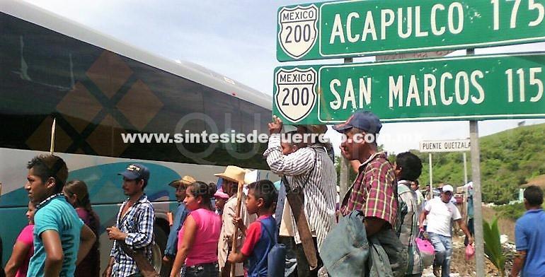 Bloqueada la carretera Acapulco-Pinotepa Nacional