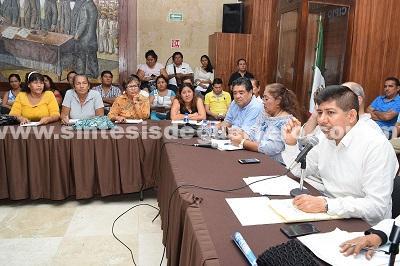 (Video) Atiende Daniel Meza al Colectivo de Organizaciones Solidarias (COS)