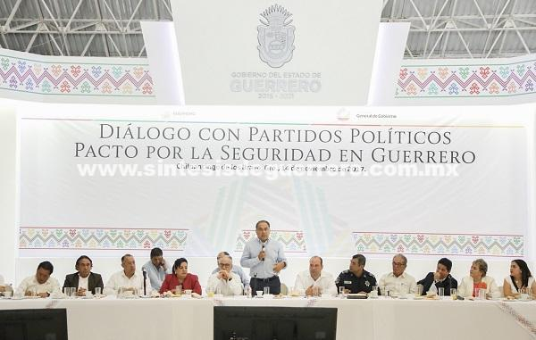 Inician los diálogos para la construcción del pacto para la seguridad en Guerrero