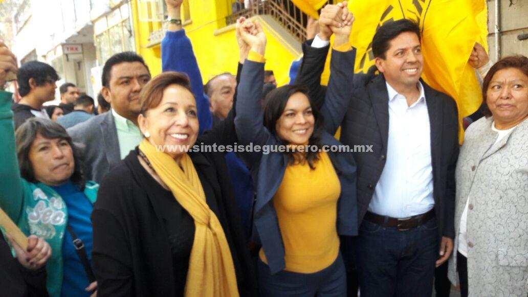 Registran Beatriz Mojica y Silvia Romero  su fórmula como precandidatas al Senado