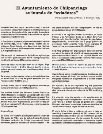 800 aviadores con el nuevo alcalde de Chilpancingo