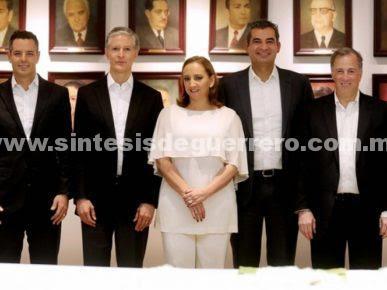Meade se reúne con gobernadores del PRI y PVEM