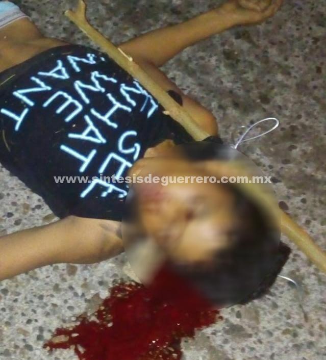 Dejan a joven asesinado con un torniquete en laProgreso de Acapulco