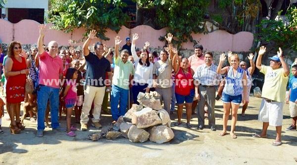 La Diputada Julieta Fernández inicia obras gestionadas en beneficio de familias acapulqueñas