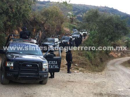Estatales y militares resguardan Polixtepec, en la sierra de Guerrero
