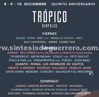 Acapulco preparado para el Festival TrópicoMX