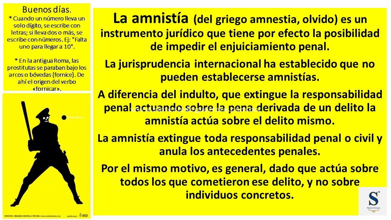 Buenos días. Amnistía