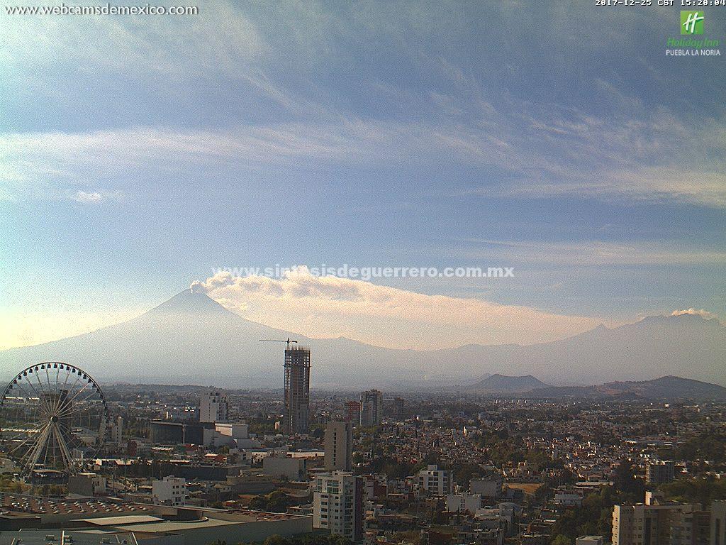 Protección Civil de Puebla prevé caída de cenizas del Popocatépetl en tres estados
