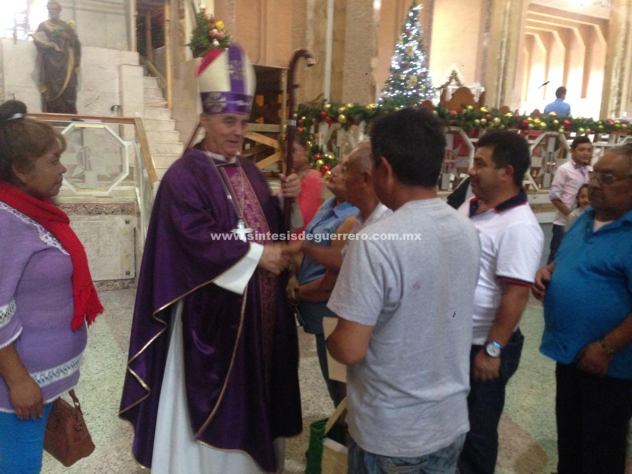 Frenar la violencia, esta navidad; pide Obispo al crimen organizado