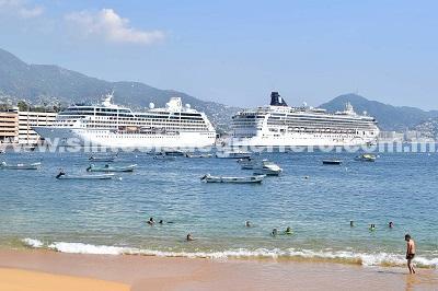 (Video) Recibe gobierno de Acapulco a dos cruceros con más de 4 mil personas