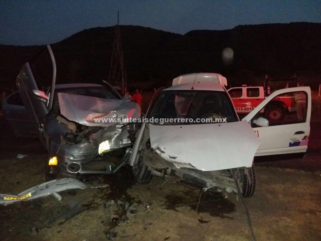Choque en la carretera Iguala-Huitzuco; seis heridos