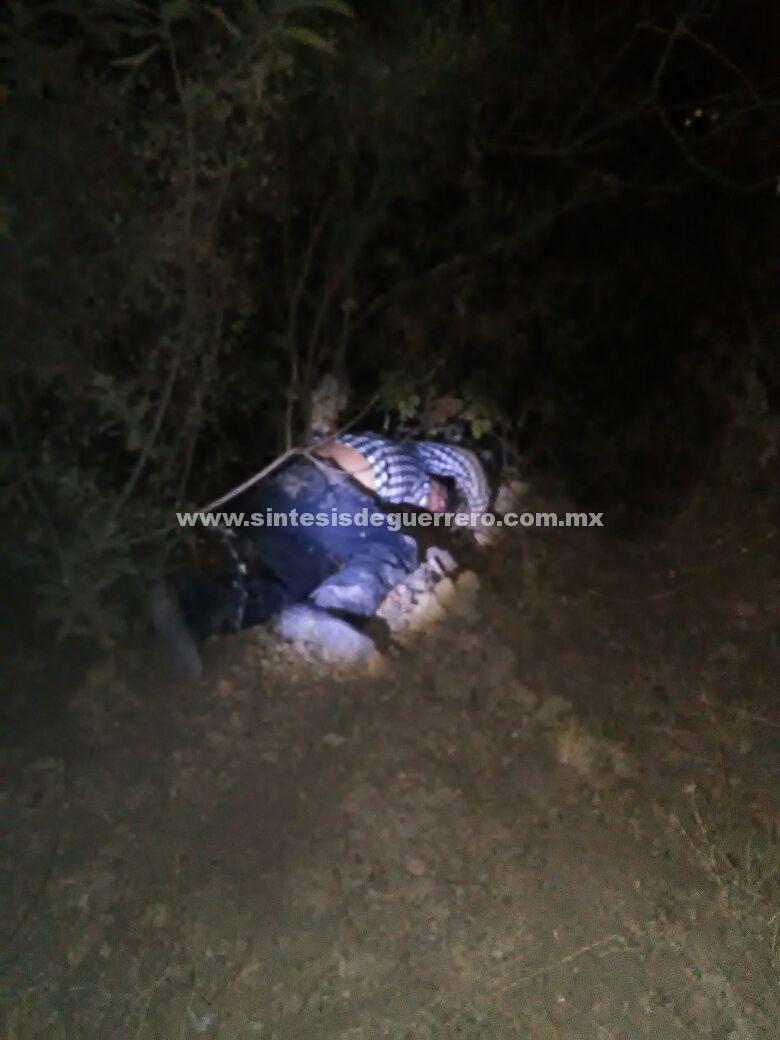 Asesinan a un hombre en Alcozauca