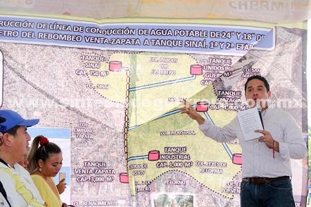 (Video) Inaugura Evodio vialidades, puente vehicular y red de agua potable con inversión de casi 30 mdp