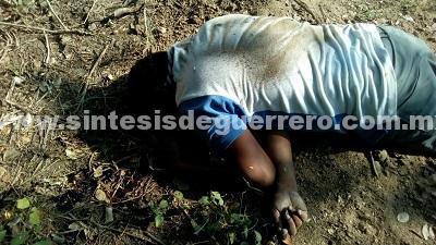 Localizan a un hombre ejecutado en Coyuca de Benítez