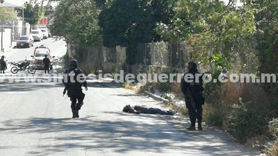 Asesinan a un hombre en la avenida Gobernadores de Chilpancingo