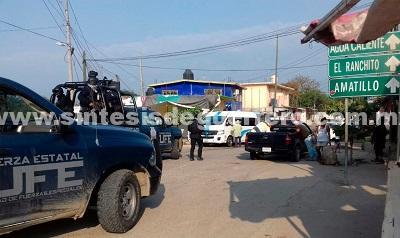 Permanecen recorridos de seguridad y vigilancia de la Plocía Estatal en La Concepción municipio de Acapuolco