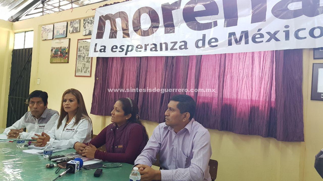 Se deslinda Morena de Servando Salgado Guzmán; por la coalición, iría una mujer