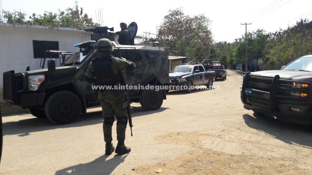 Desarman acomunitarios tras reporte de cometer homicidios en la Concepción, municipio de Acapulco