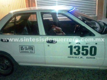 Dos taxistas ejecutados en el centro de Iguala