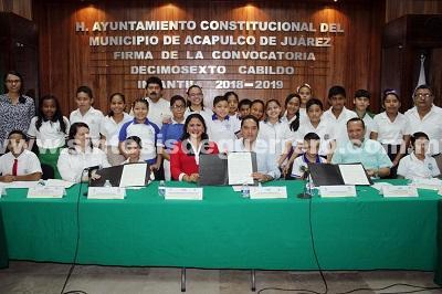 Fomenta gobierno de Acapulco valores democráticos en la niñez