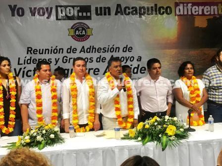 (Video) Corrientes del PRD se suman al proyecto de Víctor Aguirre en Acapulco