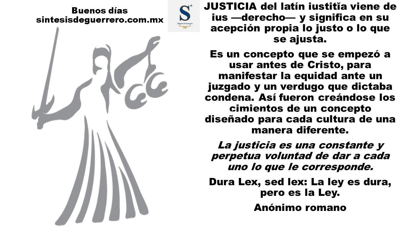 Buenos días. Justicia